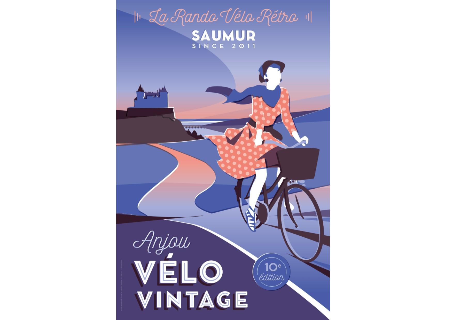 Affiche collector 2020 - Anjou Vélo Vintage