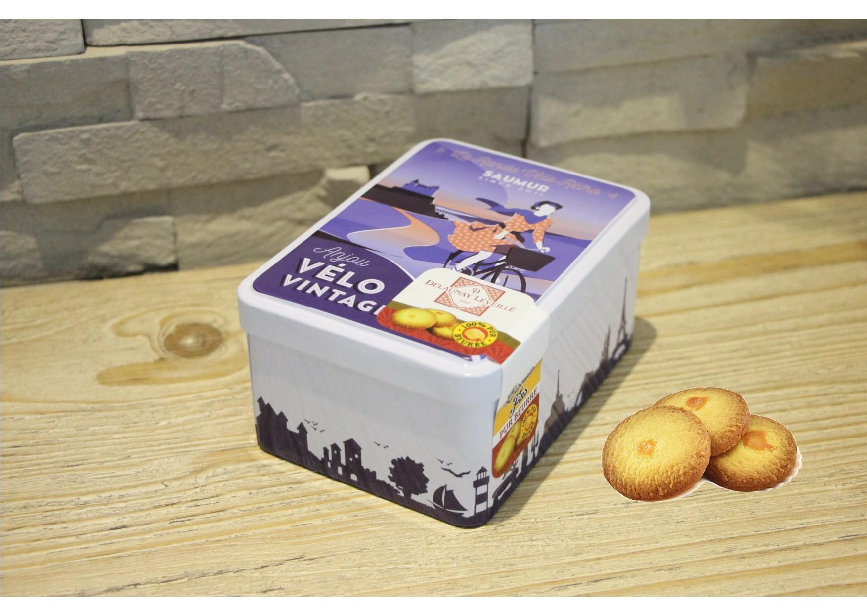 Boîte de biscuits collector Anjou Vélo Vintage