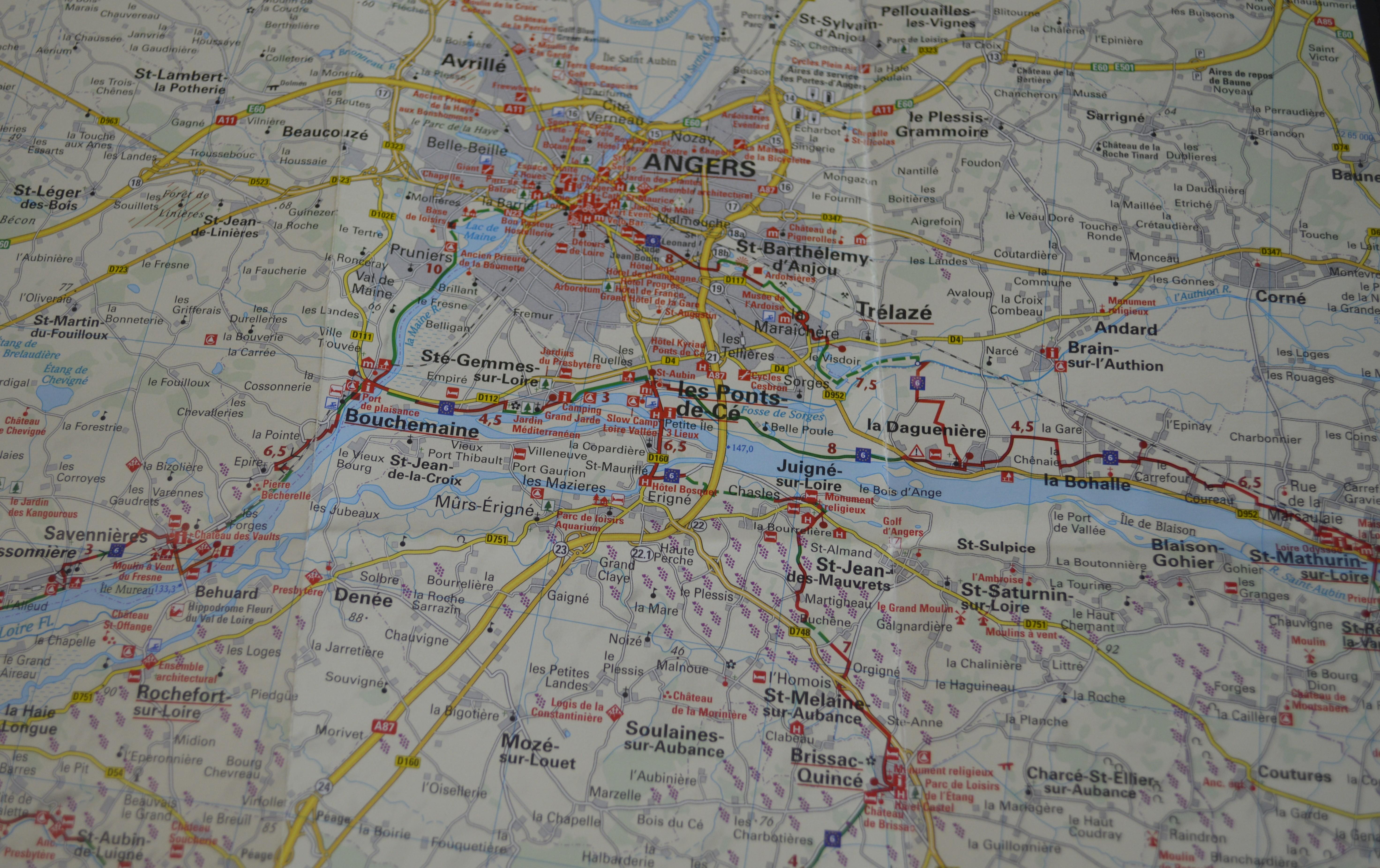 Carte Loire à vélo - Eurovélo 6 -N°1