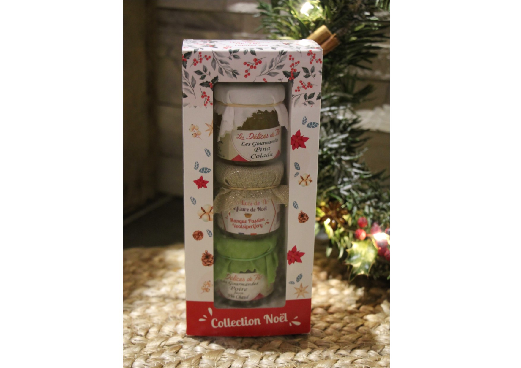 3 confitures collection Noël